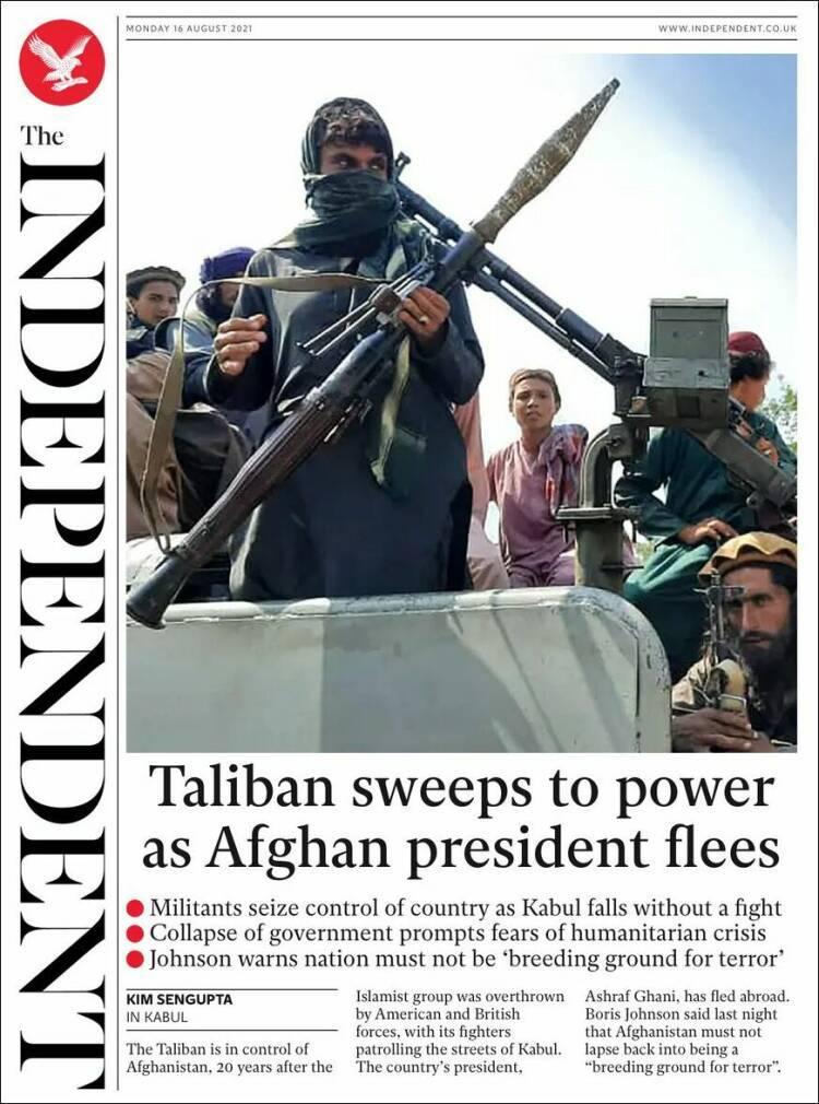Galeri: Taliban'ın Kabil'e girişi dünya basınında 10