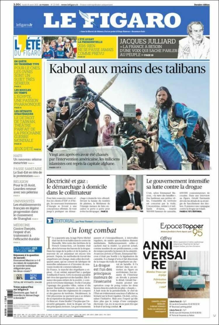 Galeri: Taliban'ın Kabil'e girişi dünya basınında 12