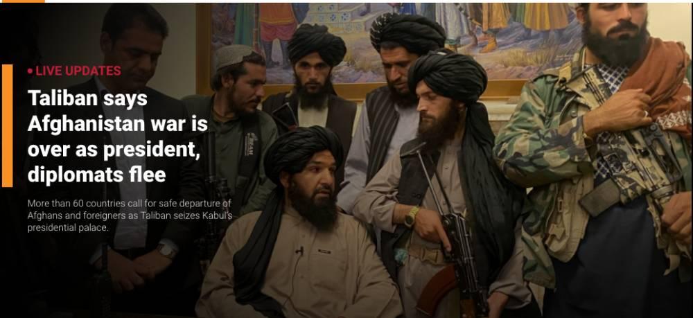 Galeri: Taliban'ın Kabil'e girişi dünya basınında 13