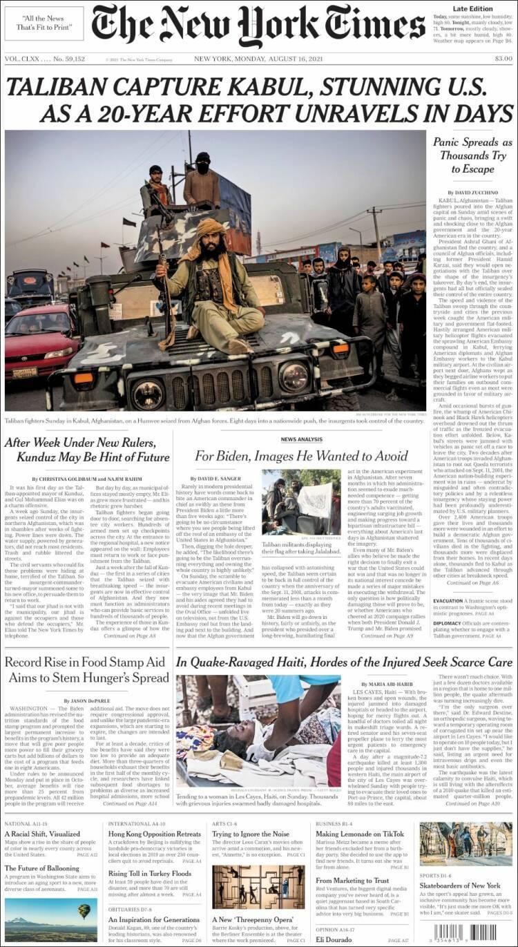 Galeri: Taliban'ın Kabil'e girişi dünya basınında 2