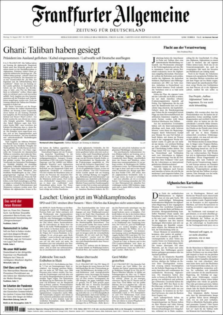 Galeri: Taliban'ın Kabil'e girişi dünya basınında 7