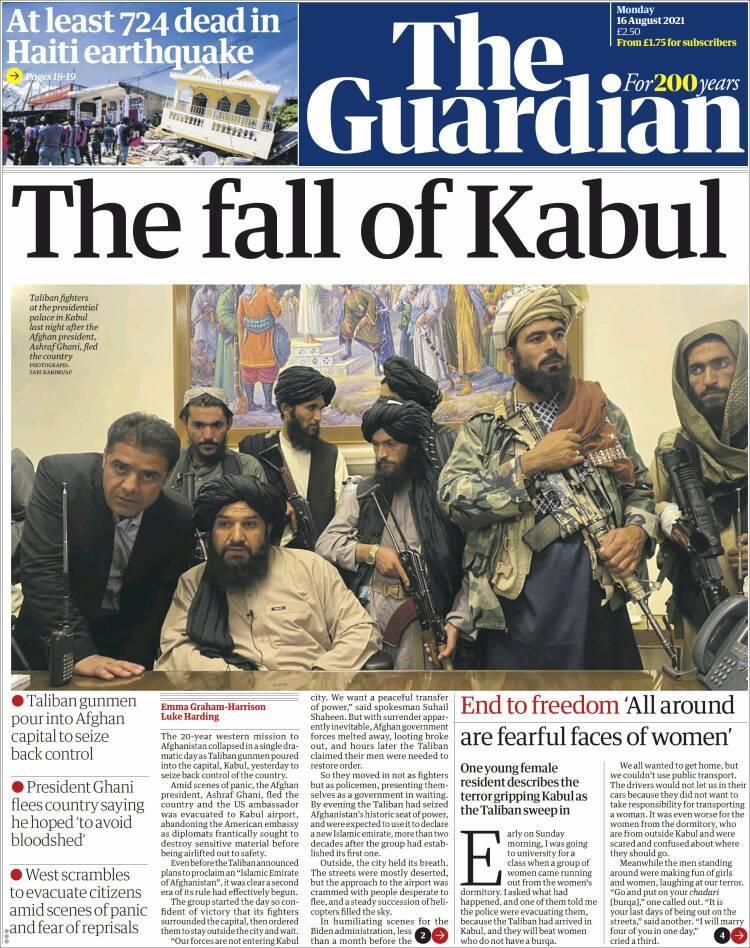 Galeri: Taliban'ın Kabil'e girişi dünya basınında 9