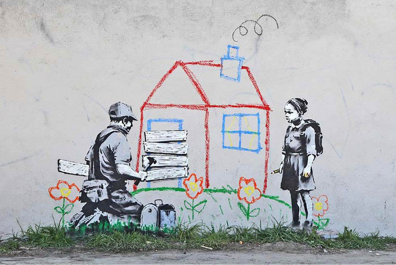 """""""Gerilla Artist"""" Banksy 16"""