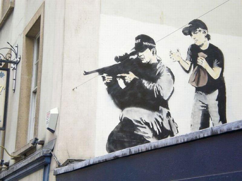 """""""Gerilla Artist"""" Banksy 3"""