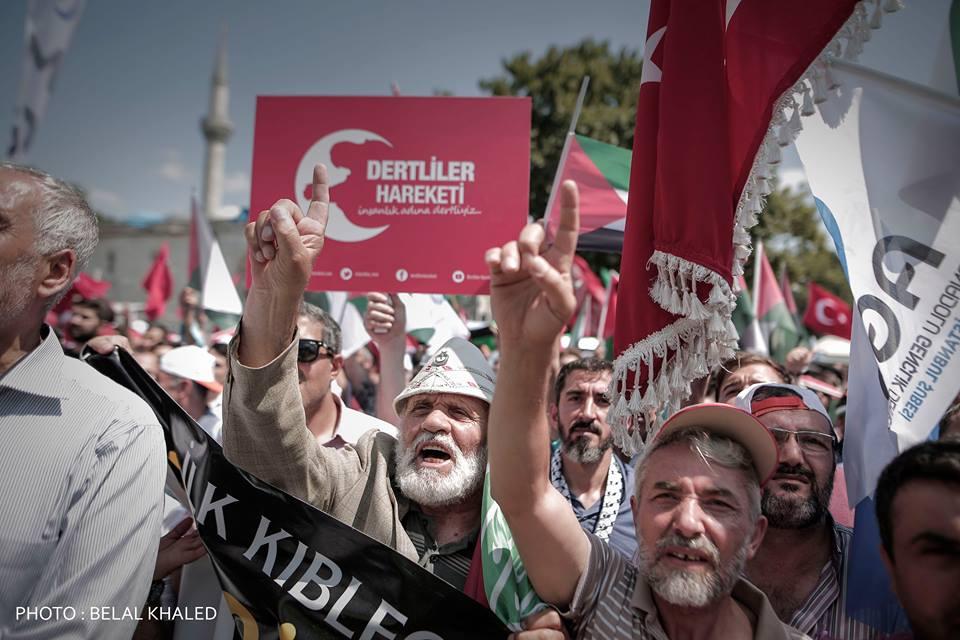 İstanbul'da Kudüs için yapılan gösteriler 1