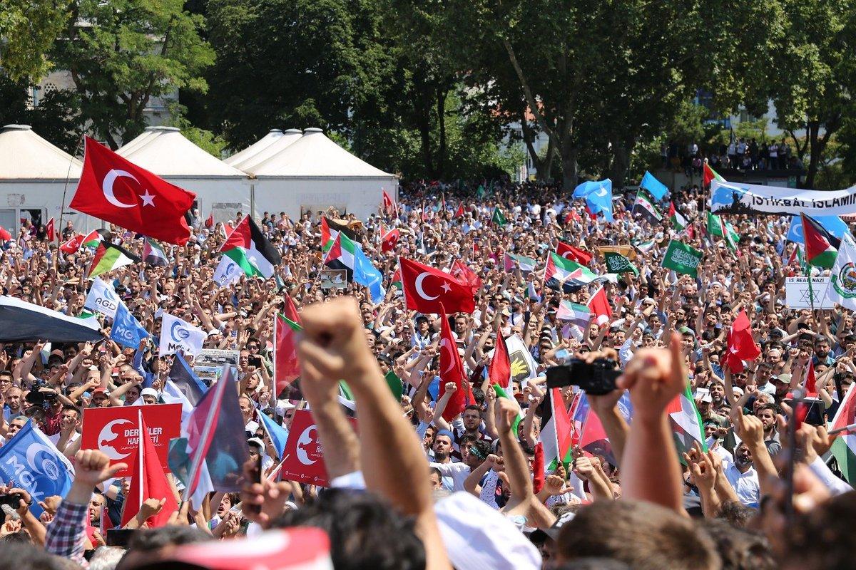 İstanbul'da Kudüs için yapılan gösteriler 8