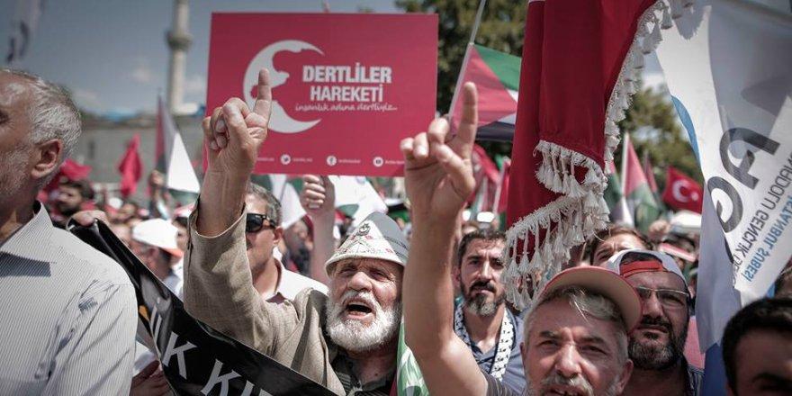 İstanbul'da Kudüs için yapılan gösteriler