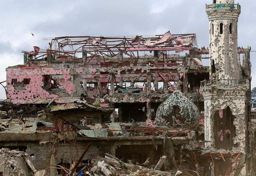 Filipinler ordusunun yıkıma uğrattığı Marawi şehri 3