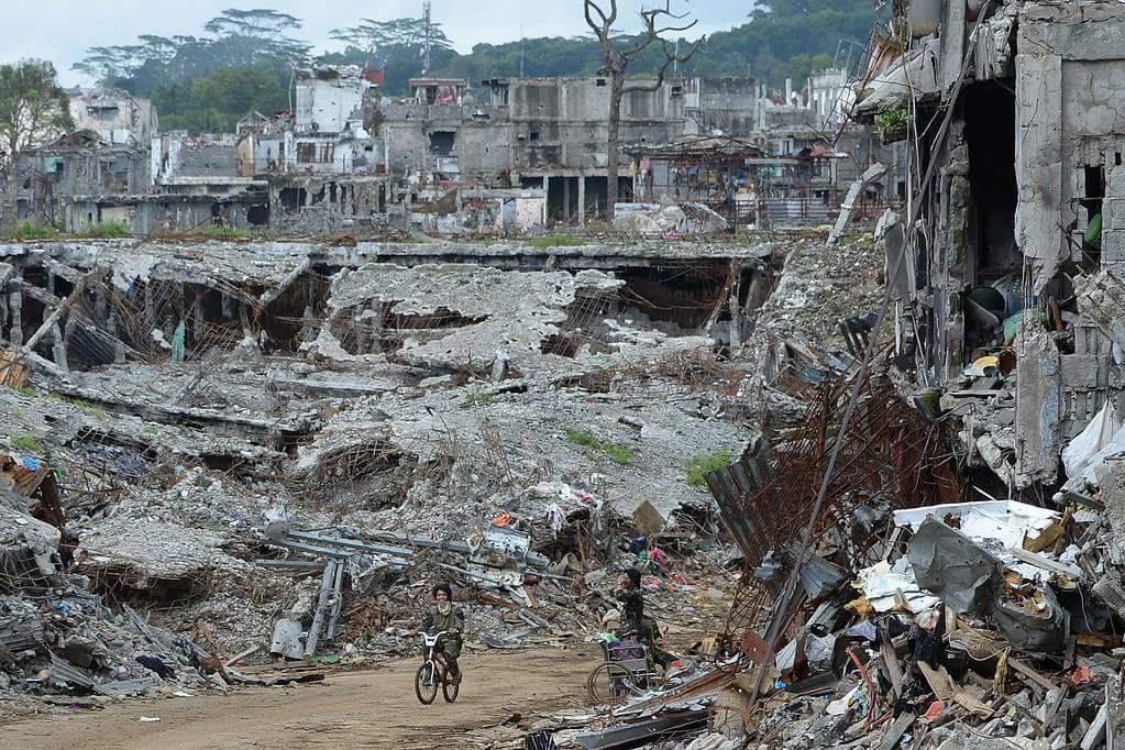 Filipinler ordusunun yıkıma uğrattığı Marawi şehri 6