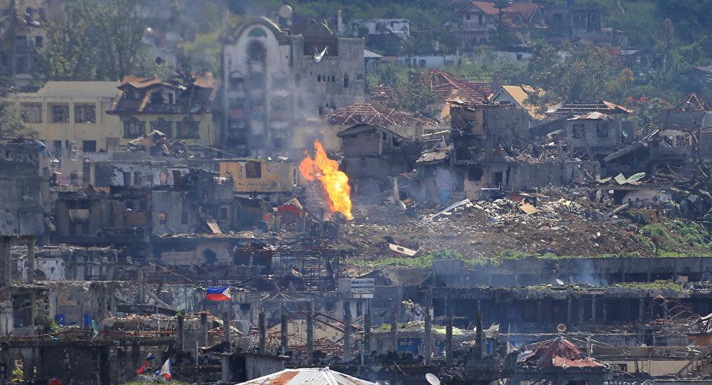 Filipinler ordusunun yıkıma uğrattığı Marawi şehri 8