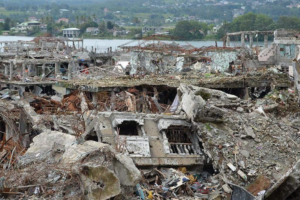 Filipinler ordusunun yıkıma uğrattığı Marawi şehri 9