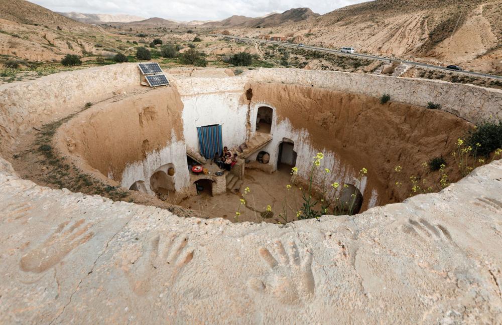Tunus'un yeraltı evlerinde yaşayan son aileler 1