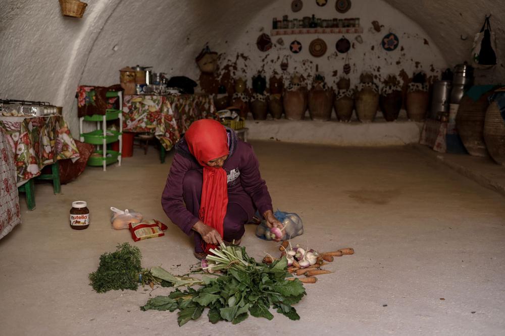 Tunus'un yeraltı evlerinde yaşayan son aileler 11