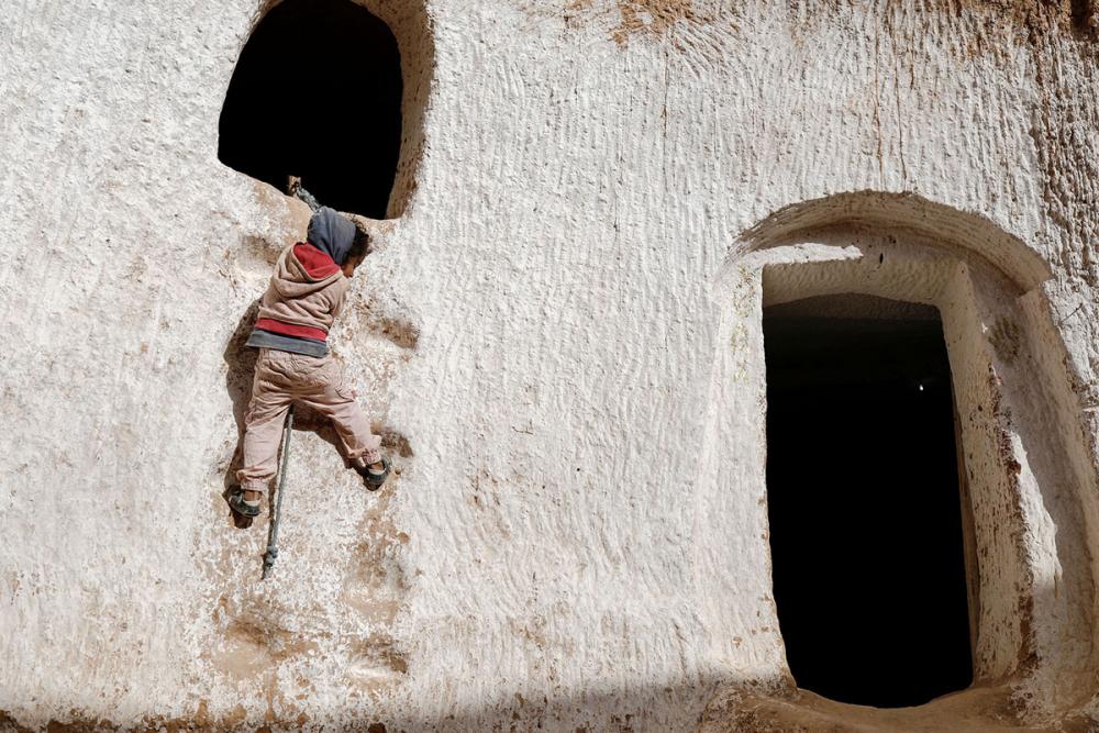 Tunus'un yeraltı evlerinde yaşayan son aileler 3