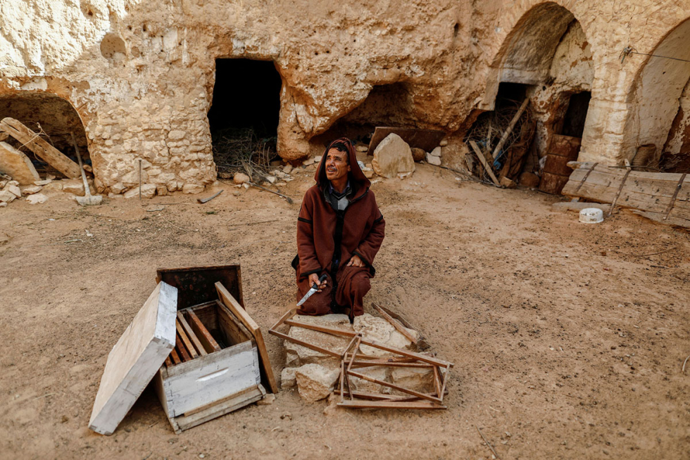 Tunus'un yeraltı evlerinde yaşayan son aileler 7