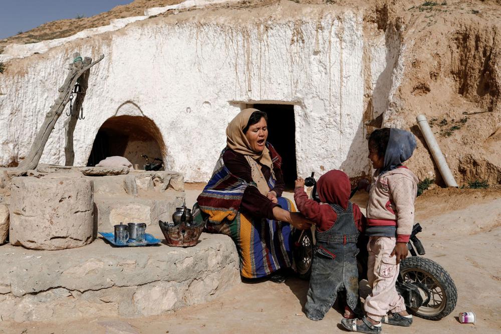 Tunus'un yeraltı evlerinde yaşayan son aileler 8