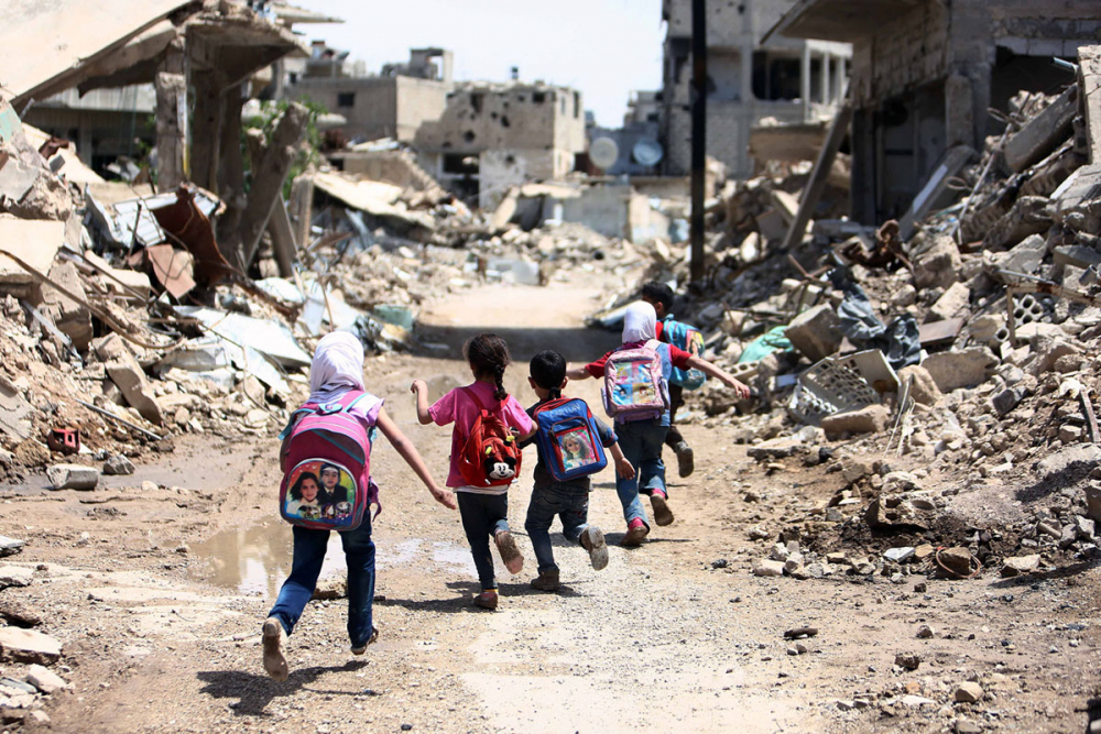 Suriye öğrencileri: Savaş alanında okula gitmek 1