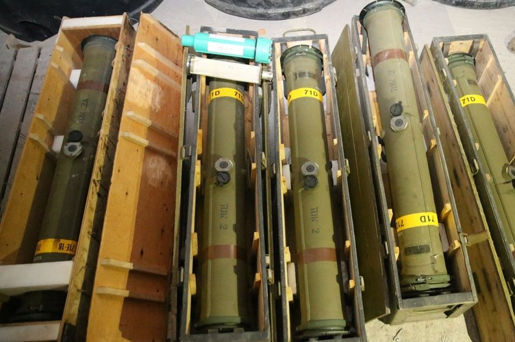 PKK'nın Afrin'deki cephaneliğinden çıkan silahlar hangi ülkele 5