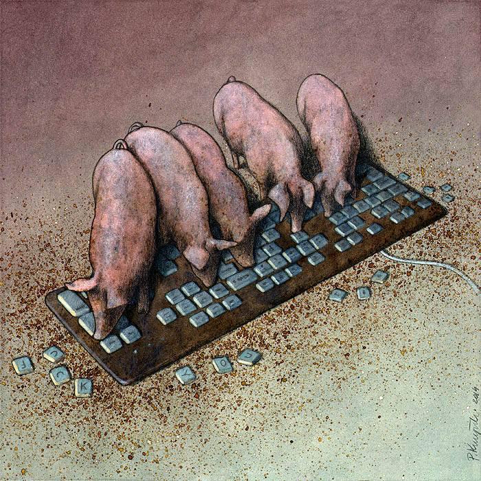 Sanatçı Pawel Kuczynski'den Modern Toplum Eleştirileri 29