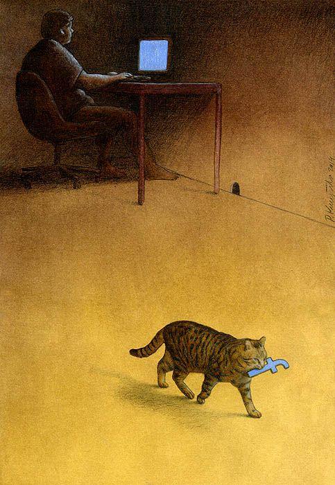 Sanatçı Pawel Kuczynski'den Modern Toplum Eleştirileri 34