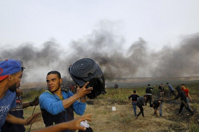 """İsrail'e rağmen Gazze sınırında """"ateş cuması"""" eylemi: 2 ö 11"""
