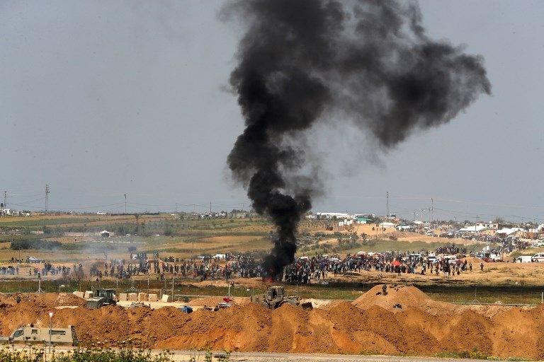 """İsrail'e rağmen Gazze sınırında """"ateş cuması"""" eylemi: 2 ö 16"""