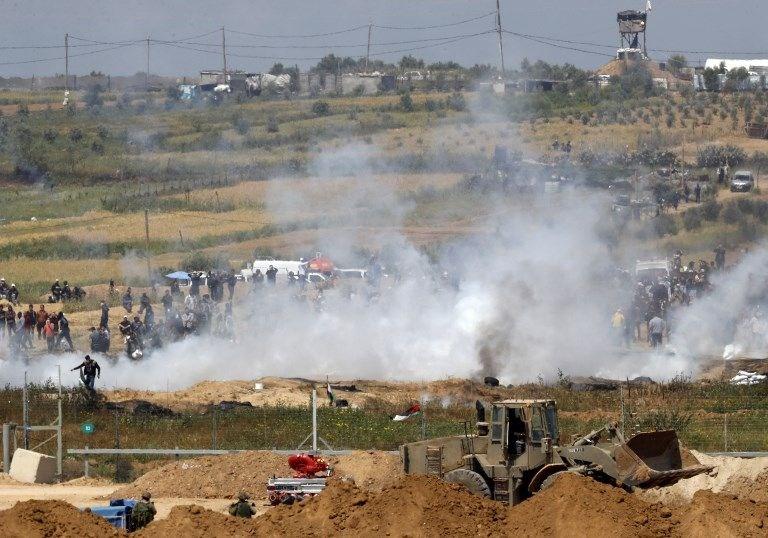"""İsrail'e rağmen Gazze sınırında """"ateş cuması"""" eylemi: 2 ö 17"""