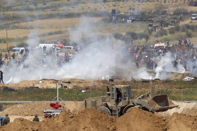 """İsrail'e rağmen Gazze sınırında """"ateş cuması"""" eylemi: 2 ö 18"""