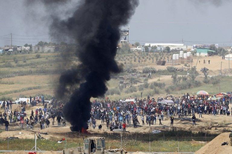 """İsrail'e rağmen Gazze sınırında """"ateş cuması"""" eylemi: 2 ö 20"""