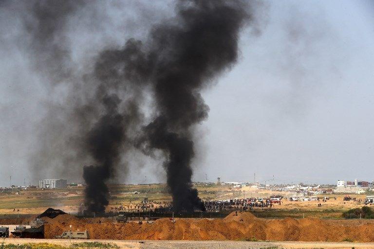 """İsrail'e rağmen Gazze sınırında """"ateş cuması"""" eylemi: 2 ö 22"""