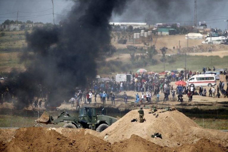 """İsrail'e rağmen Gazze sınırında """"ateş cuması"""" eylemi: 2 ö 23"""