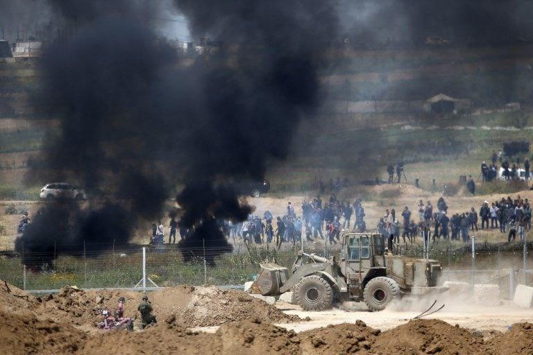 """İsrail'e rağmen Gazze sınırında """"ateş cuması"""" eylemi: 2 ö 4"""