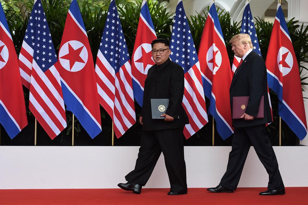 Trump-Kim zirvesinden kareler 1