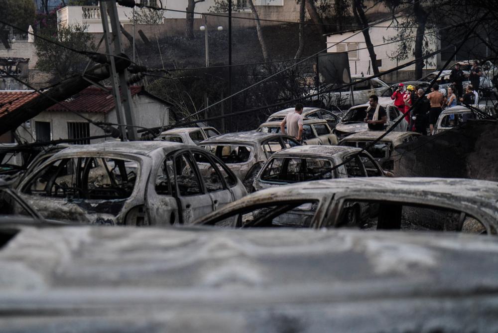 Yunanistan tarihinin en büyük yangını 7