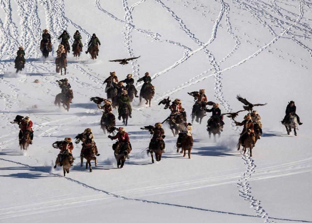 Kazakistan'daki geleneksel avcılık festivalinden kareler 1
