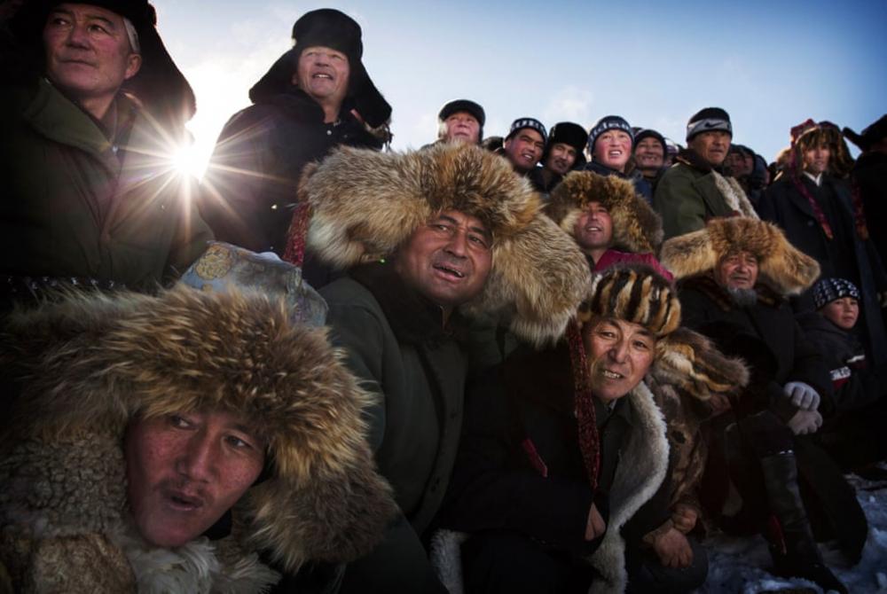 Kazakistan'daki geleneksel avcılık festivalinden kareler 11