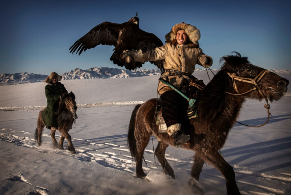 Kazakistan'daki geleneksel avcılık festivalinden kareler 2