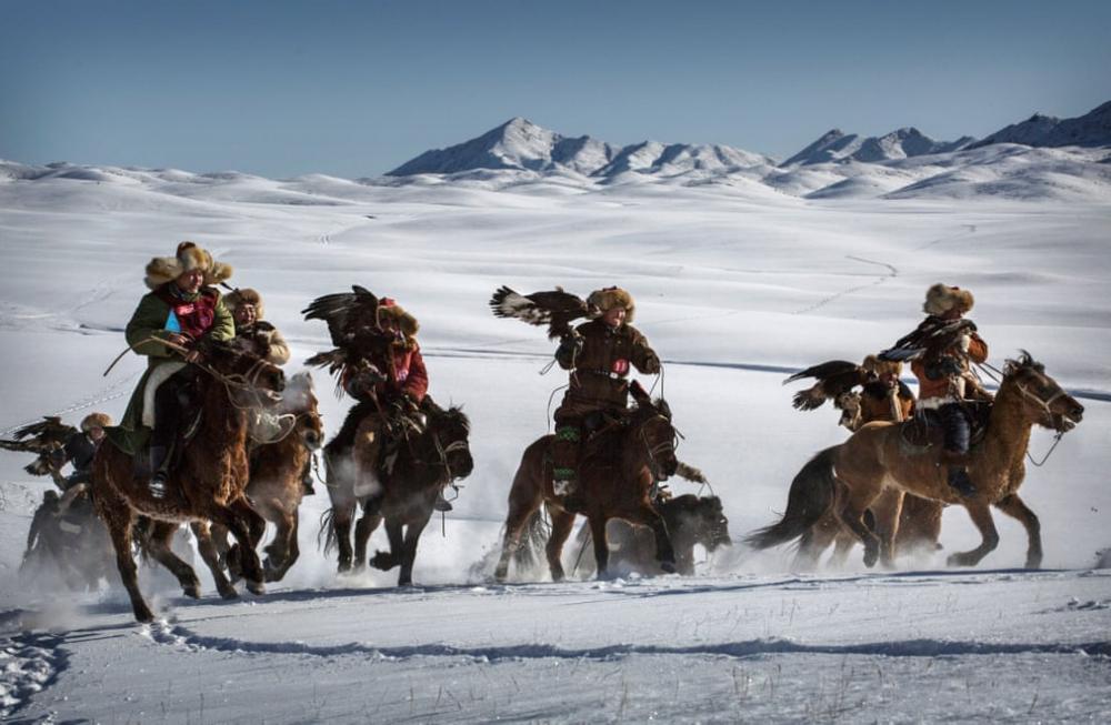 Kazakistan'daki geleneksel avcılık festivalinden kareler 4