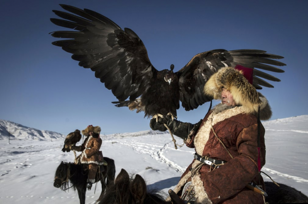 Kazakistan'daki geleneksel avcılık festivalinden kareler 6