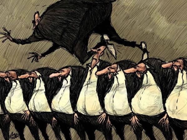 Amjad Rasmi'den 'güçlü karikatürler': Arap sokağı ve Orta 11