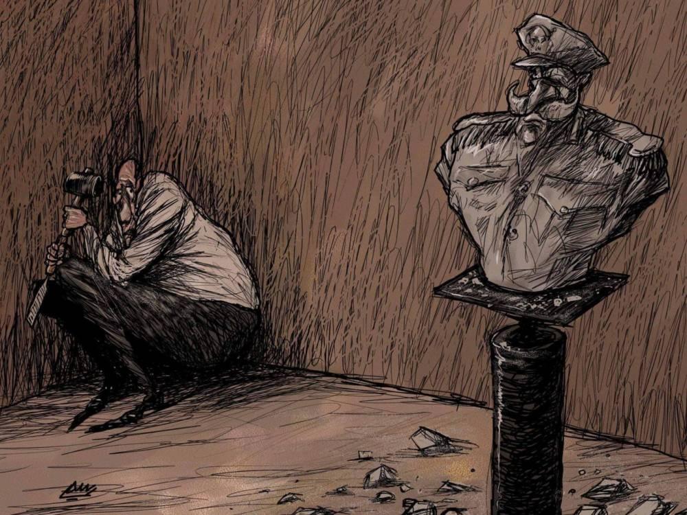 Amjad Rasmi'den 'güçlü karikatürler': Arap sokağı ve Orta 12