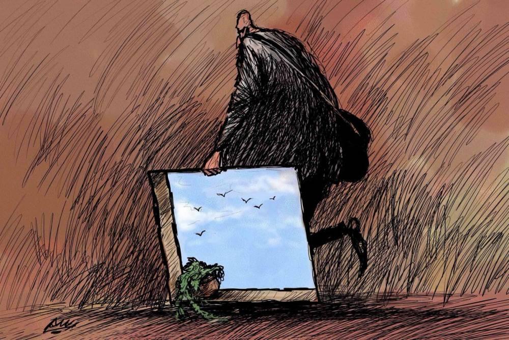 Amjad Rasmi'den 'güçlü karikatürler': Arap sokağı ve Orta 13