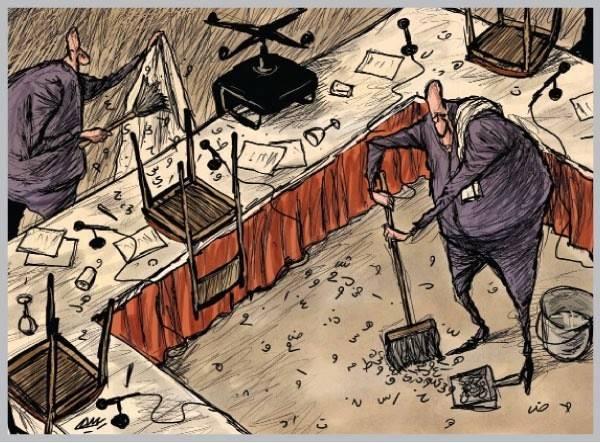 Amjad Rasmi'den 'güçlü karikatürler': Arap sokağı ve Orta 15