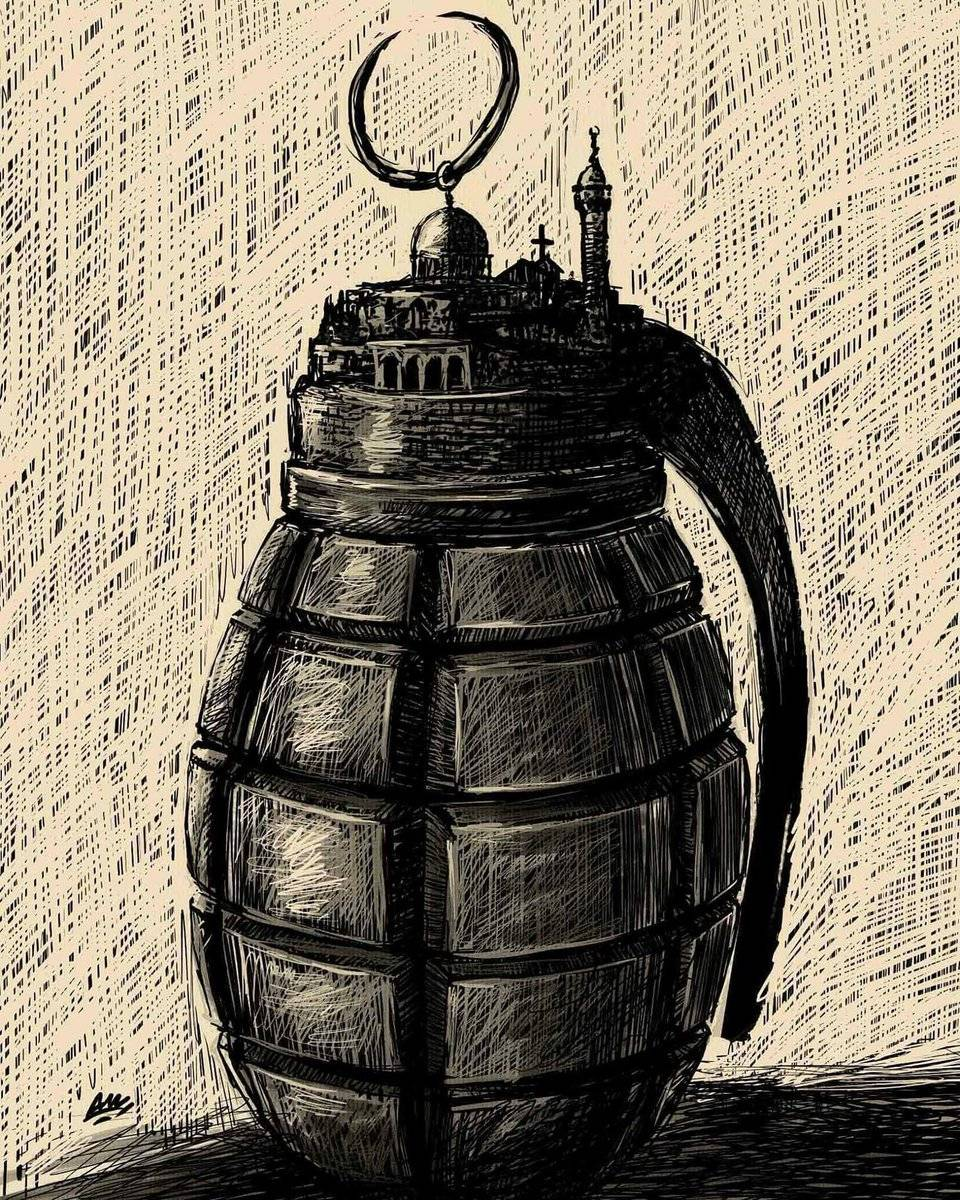 Amjad Rasmi'den 'güçlü karikatürler': Arap sokağı ve Orta 16