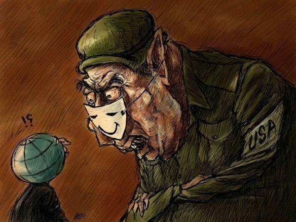 Amjad Rasmi'den 'güçlü karikatürler': Arap sokağı ve Orta 17