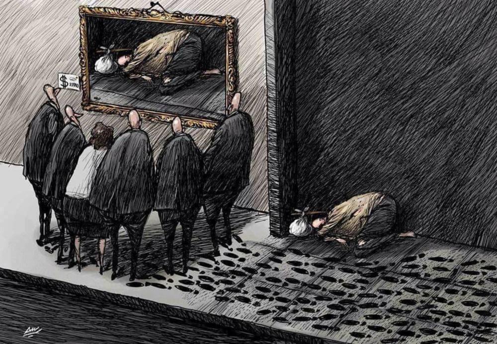 Amjad Rasmi'den 'güçlü karikatürler': Arap sokağı ve Orta 24