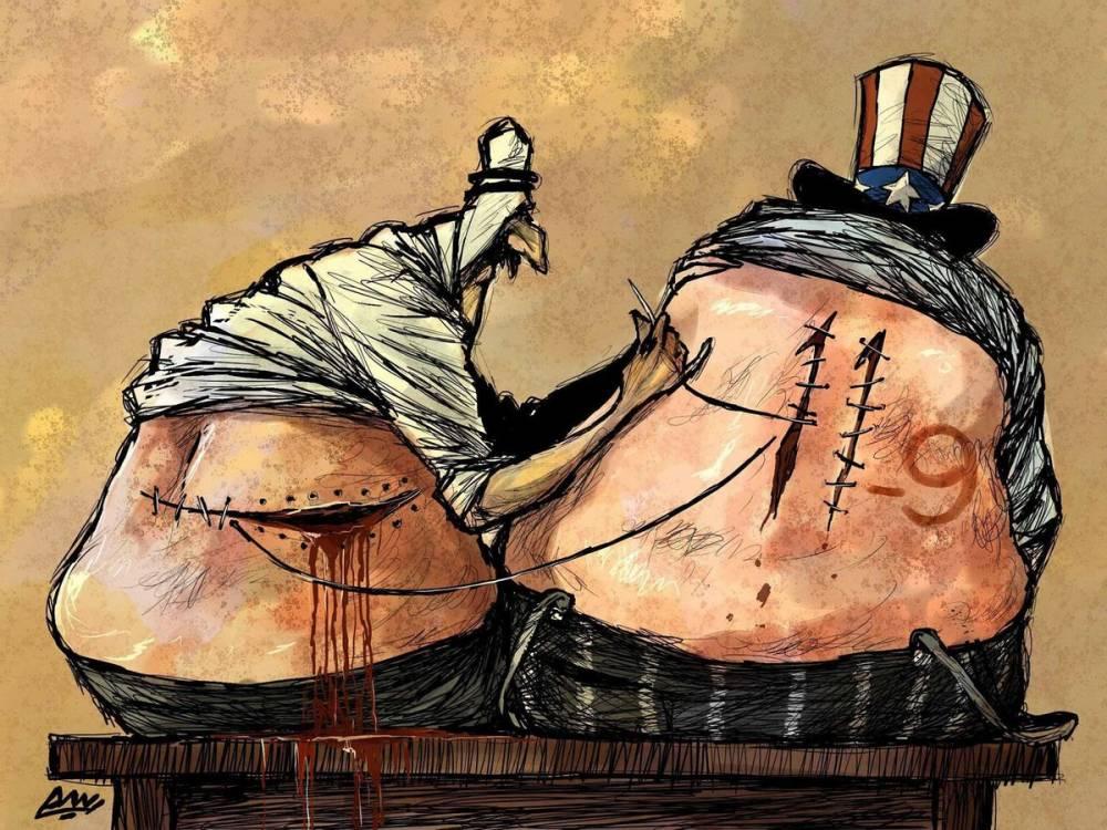 Amjad Rasmi'den 'güçlü karikatürler': Arap sokağı ve Orta 25