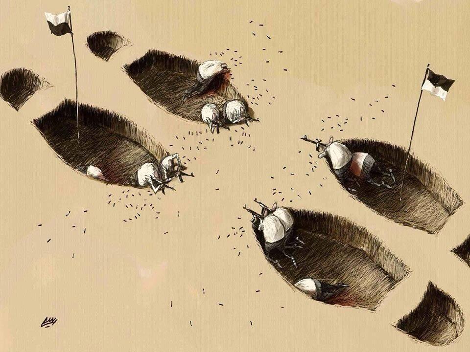 Amjad Rasmi'den 'güçlü karikatürler': Arap sokağı ve Orta 28