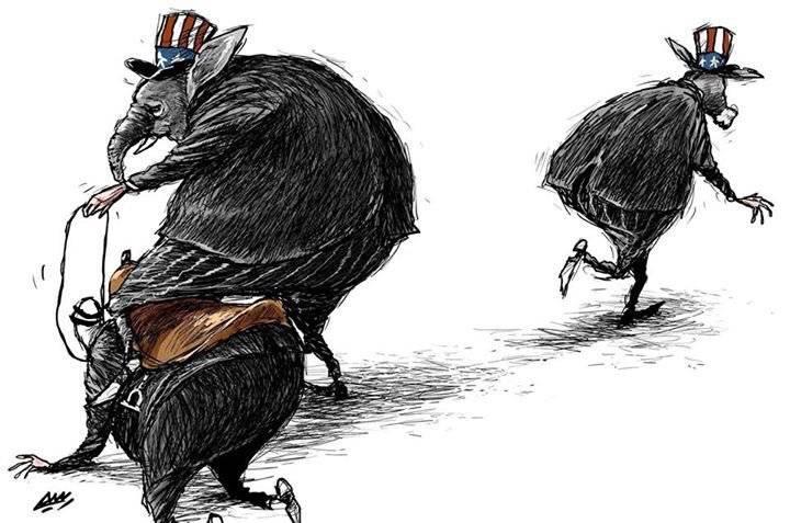 Amjad Rasmi'den 'güçlü karikatürler': Arap sokağı ve Orta 29