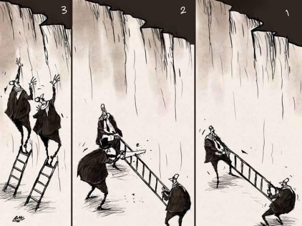 Amjad Rasmi'den 'güçlü karikatürler': Arap sokağı ve Orta 4